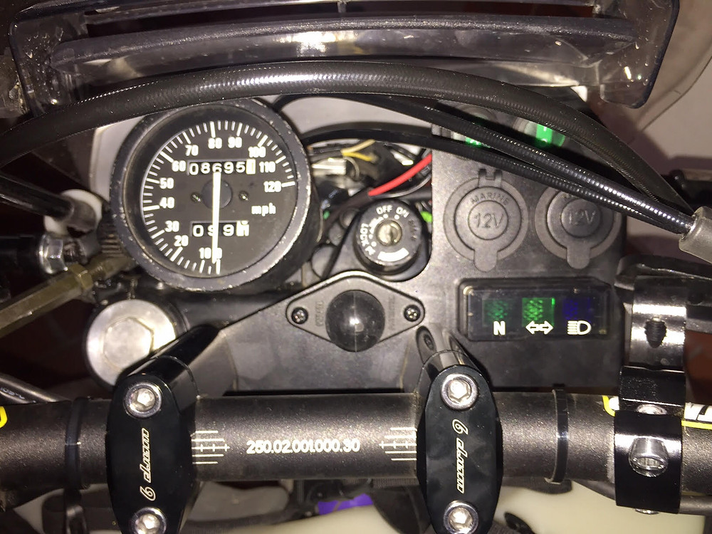 The dash with two 12v sockets