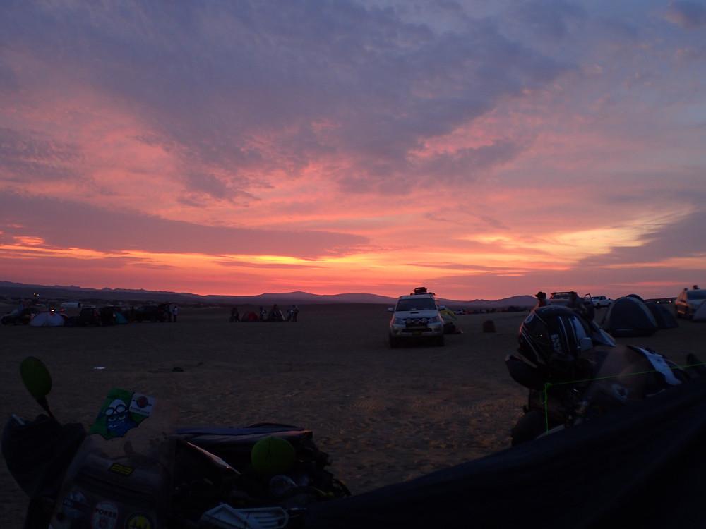Our first Dakar sunset