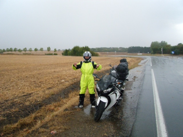 Cancelled Ferry so additional road trip back home through France in a downpour