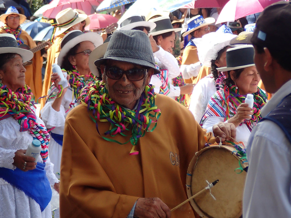 People of all ages were in the processions...happy man!