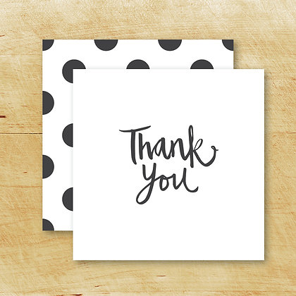 Thank You Card - Folded (Pack of 10)