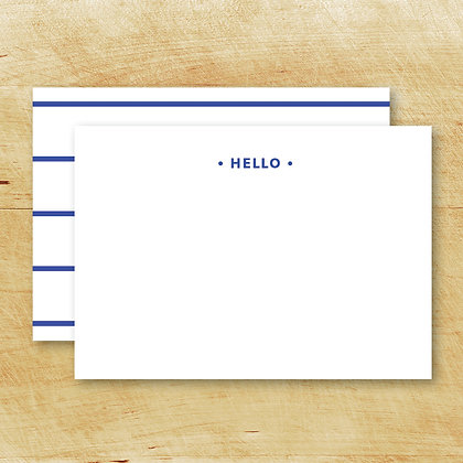 BLUE Hello Note Cards (Set of 15)