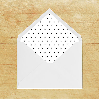 Lined Envelopes - Black Dots (10)