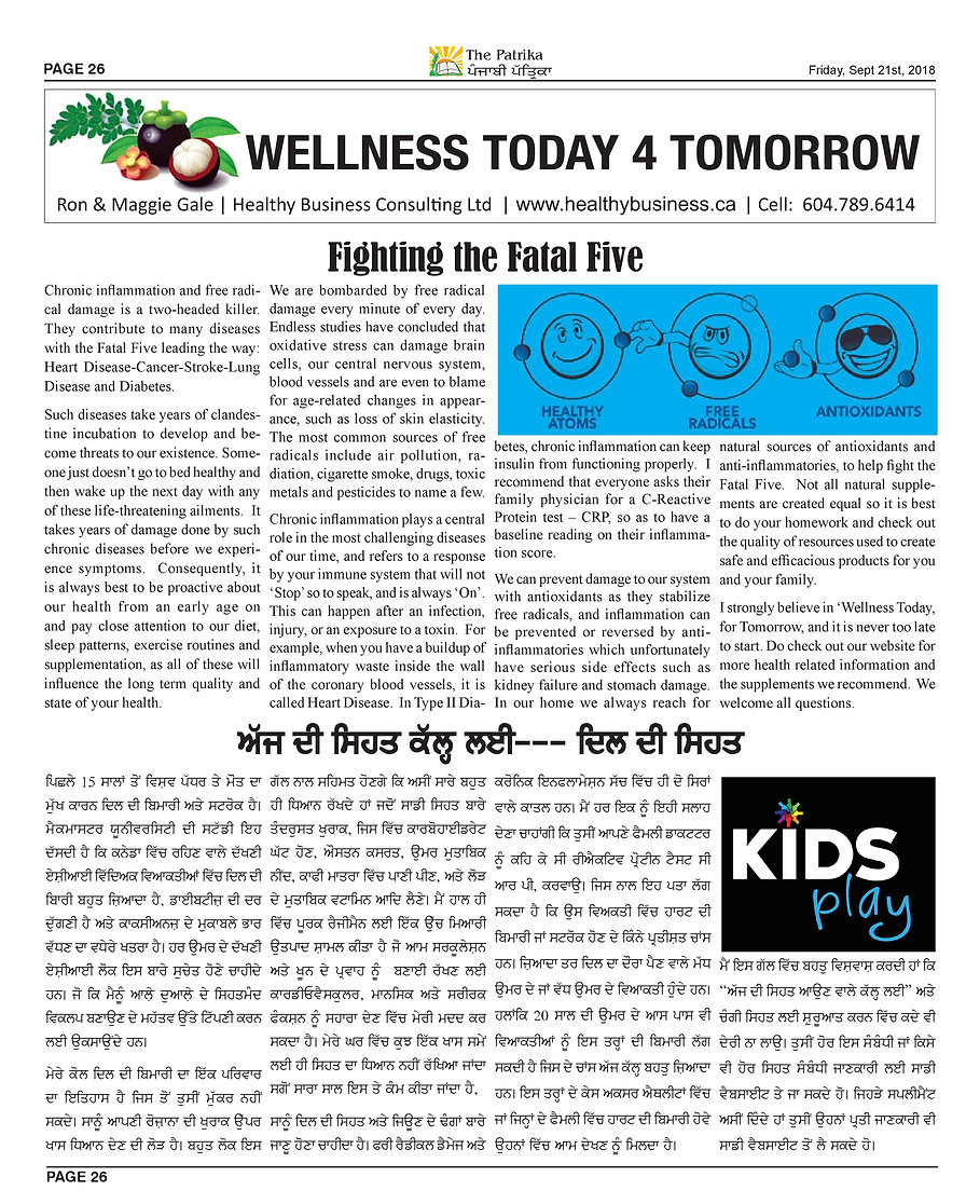 Wellness Today 4 Tomorrow -Fighting The
