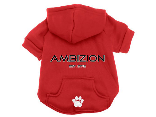 Ambizion Dog Hoodie Red
