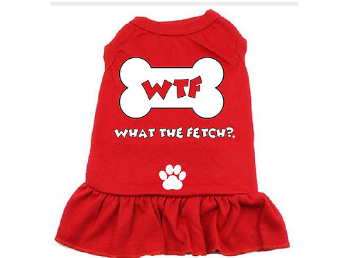 WTF What The Fetch Red Doggy Dress