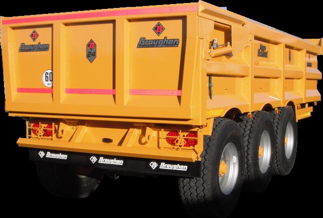 24 Ton Dump Trailer with Steer Axle