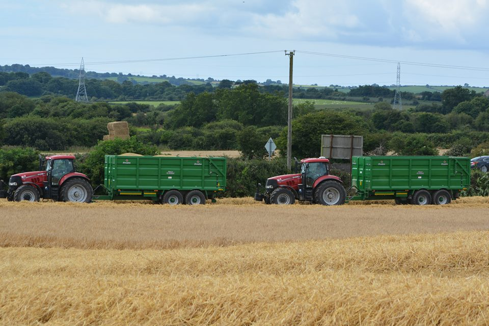 Two Broughan Grain Trailers