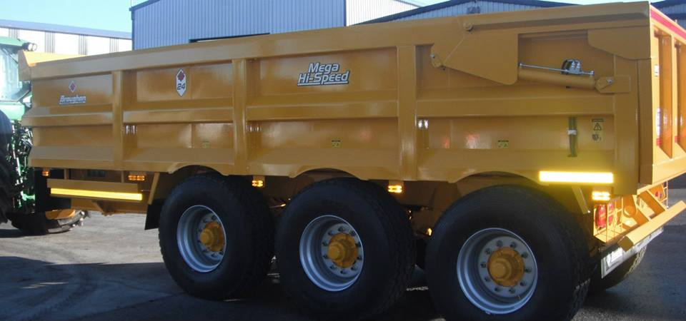 Dump Trailer with Rear Steer Axle