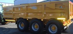 Dump Trailer with Rear Steer Axle