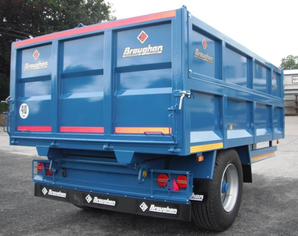 Broughan 14ft Grain Trailer with Drop Side
