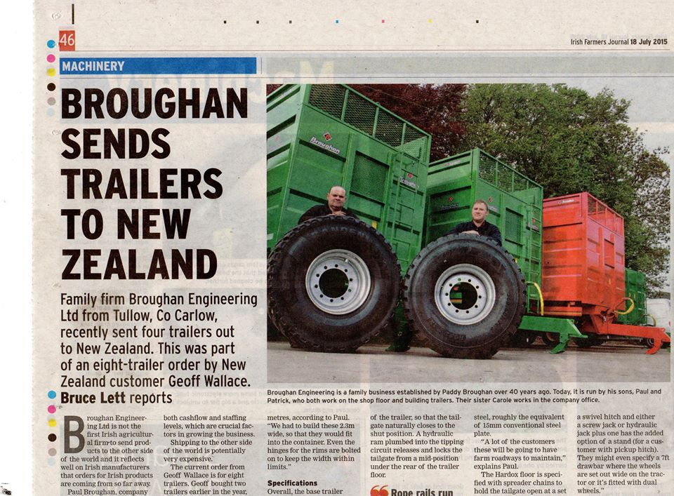 Article in The Farmers Journal