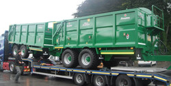 Two 18ft Broughan Trailers with Rounded Fronts
