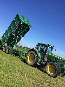 Broughan Grain Trailer in Action