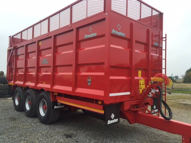 24ft Tri Axle Grain Trailer with Silage Sides