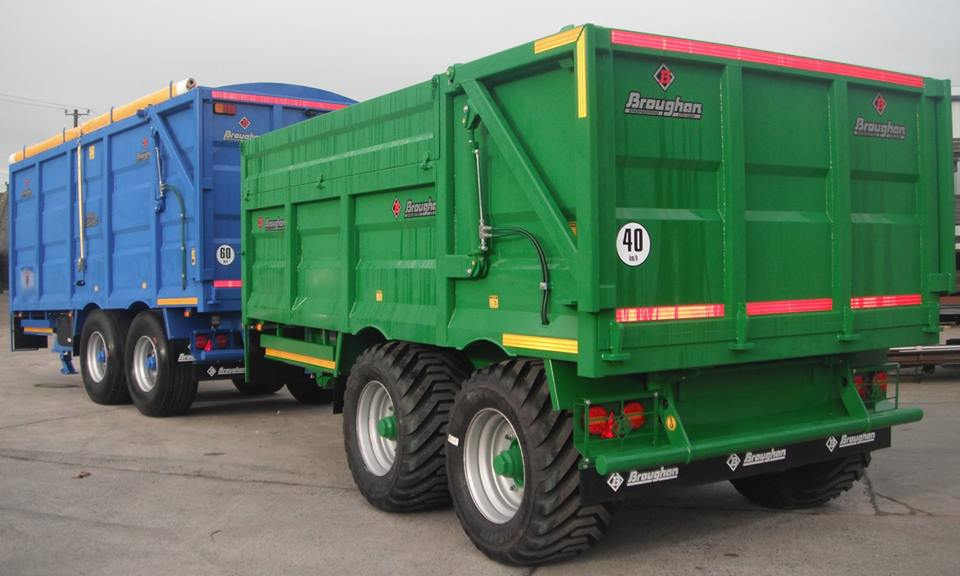 16ft Grain Trailer with 18 inch fold down side