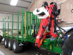Timber Trailer Being Fittef with Crane at Putreacg Ltd