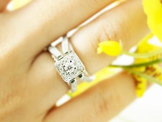 Anel de noivado ouro 750 branco