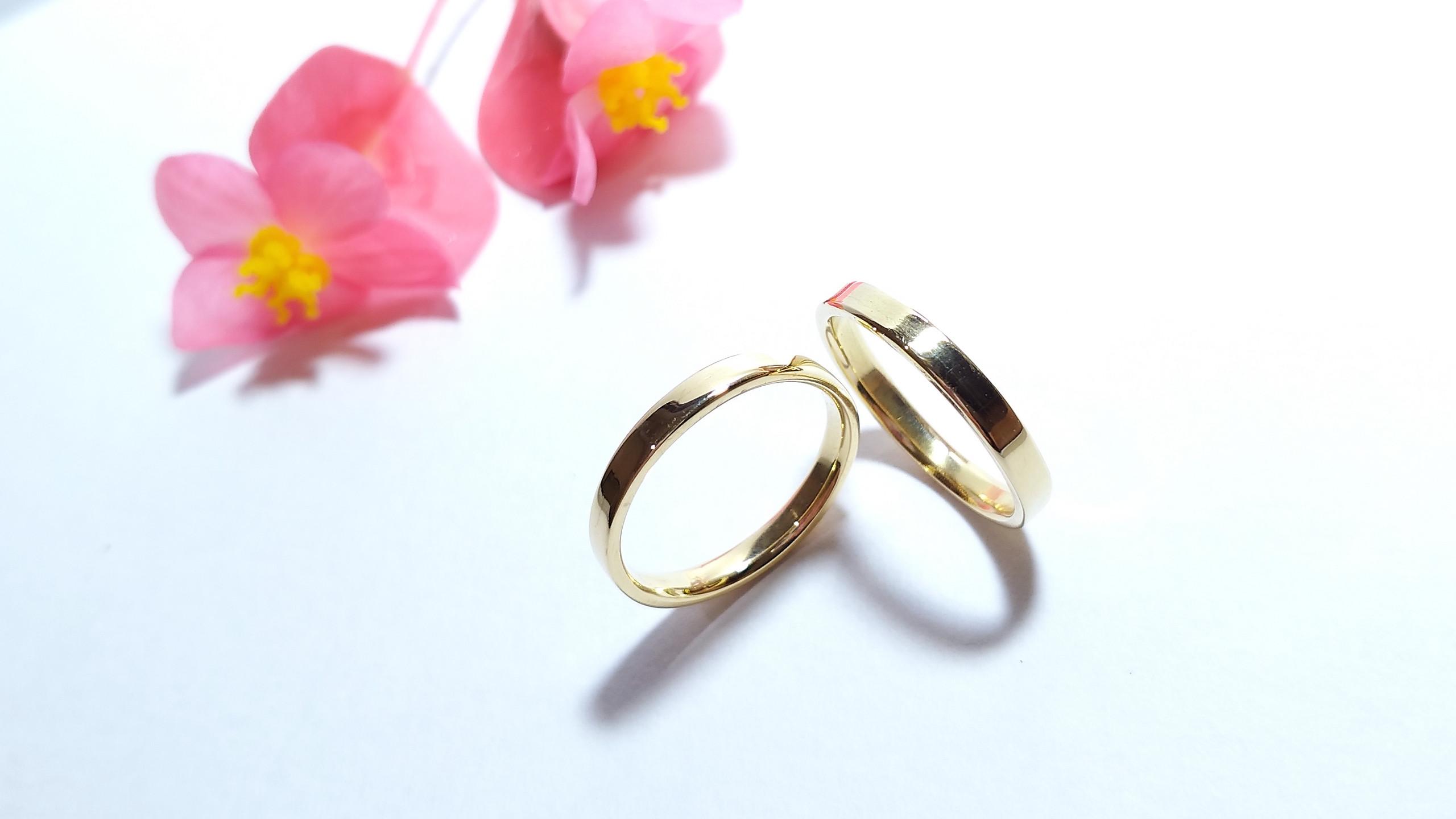 Alianças de casamento personalizado de ouro 750