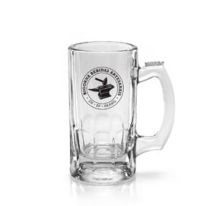 Caneca Trigger Bigorna Para Chopp Ou Cerveja Em Vidro 375ml