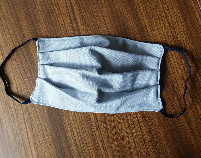 Face Covering Light Grey Cotton