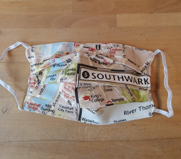 Face Covering London Map