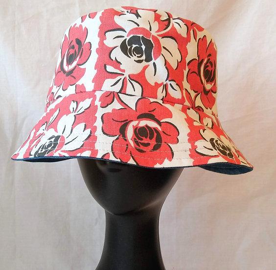 Bucket Hat Vintage Fabric Gypsy Rose