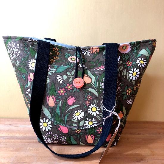 Bucket Bag Flower Waltz Brown