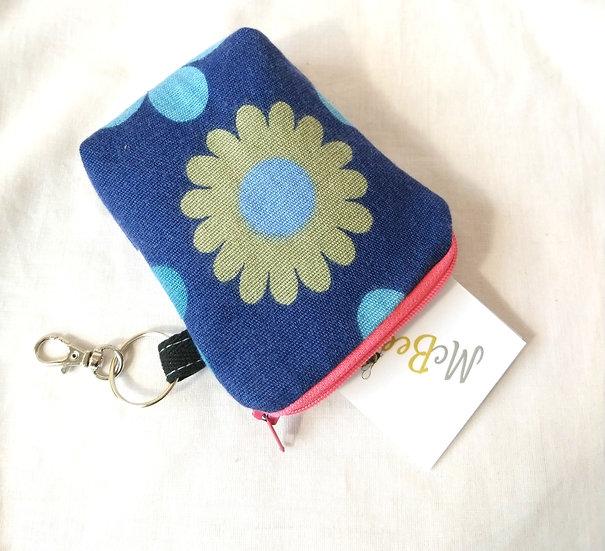 Card and Key Purse Vintage Fabric Heidi