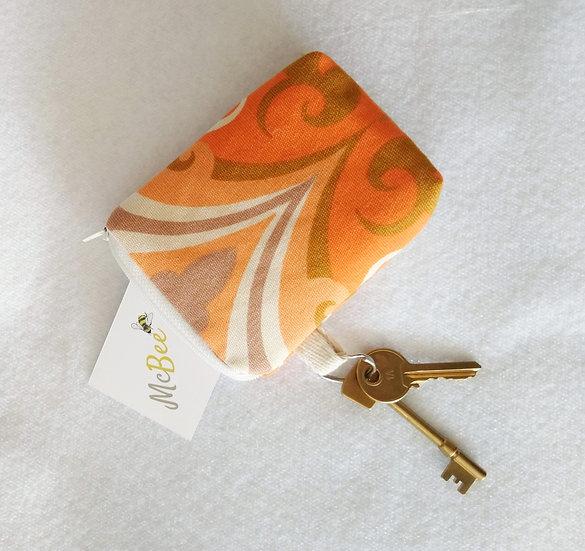 Card and Key Purse Vintage Fabric Aragon