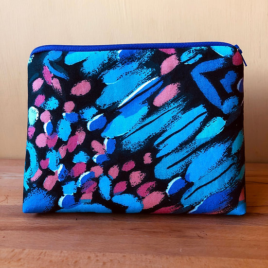 Larger Zip Pouch Brushstrokes