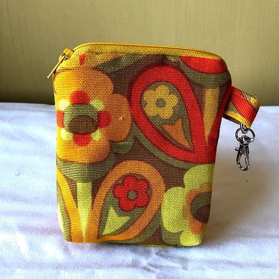 Card and Key Purse Vintage Fabric Dilly-Dally