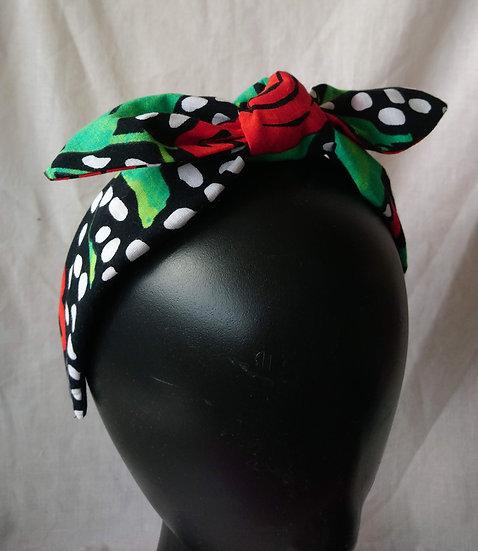 Hairband 50's Spotty Roses