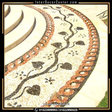 أرضيات ومشايات: بلاط إنترلوك، بلاط حجري، زلط، حصى