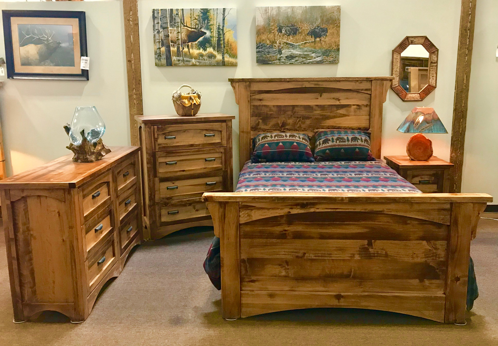 NEW! Woodlands Bedroom Set. Available Exclusively At Rustic Living Showrooms