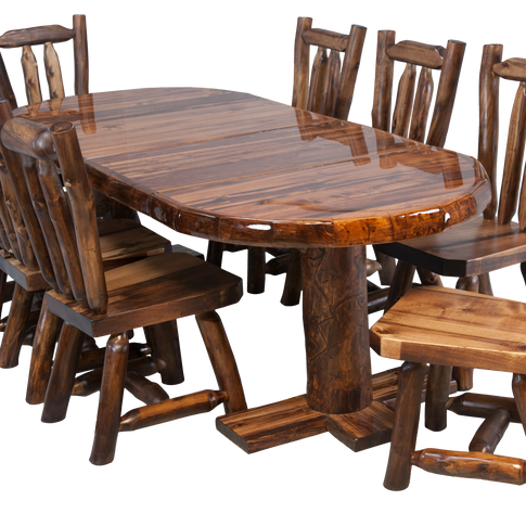 Dining Table with Expansion Leaf Option