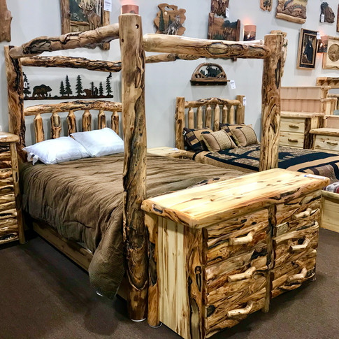 Gnarly Log Aspen Bedroom Sets