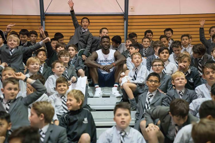 NBA Star James Ennis Visits Up and Coming Students