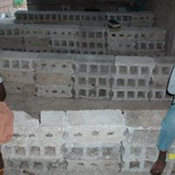 Blocks that Church members sat on