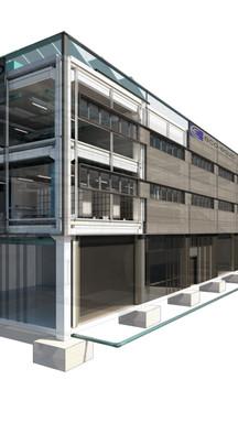 Concurso para Edificio Logístico y vestidores Ecoequip en Terrassa.