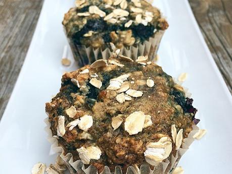 Muffins aux bleuets full bons full santé