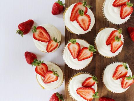 Cupcakes aux fraises et kombucha