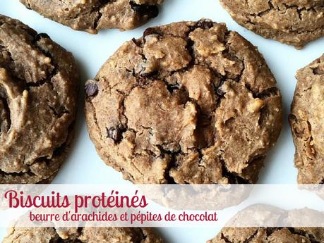 Biscuits protéinés beurre d'arachides et pépites de chocolat