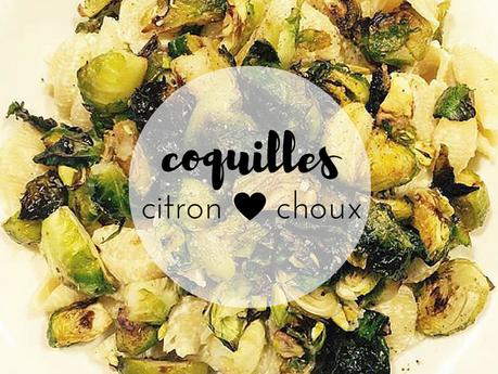 Coquilles crémeuses au citron, choux de Bruxelles à la balsamique et pistaches