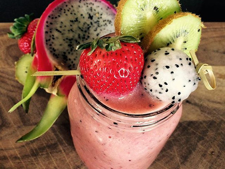 Smoothie pitaya et fraises