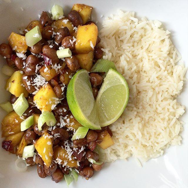 Pois chiches et gourmands à la mangue    Dodo la Grano - recettes végétaliennes, santé et simples