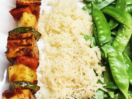 Brochettes de tofu sauce aigre-douce