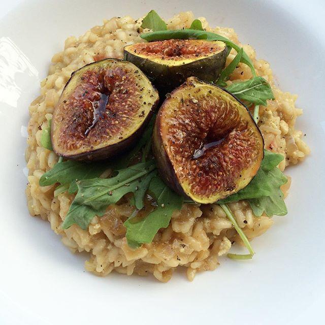 Risotto aux figues rôties et oignons caramélisés  | Dodo la Grano - recettes végétaliennes, santé et simples