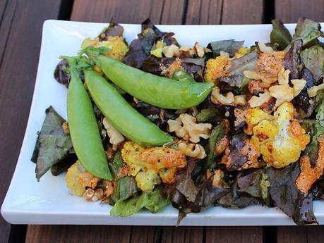 Salade de choux-fleurs rôtis cari-coco