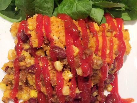 Pâté chinois mexicain aux patates douces